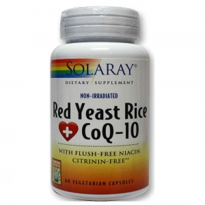 Solaray Red Yeast Rice Plus CoQ10 60 capsulas vegetales
