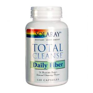 Solaray Total Cleanse Daily Fiber 120 Cápsulas