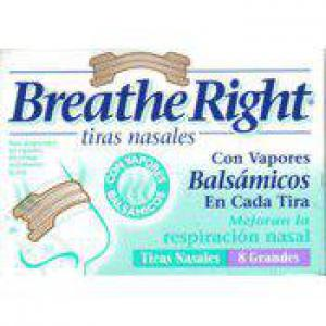 Tiras Nasales Breathe Right Balsámicas Talla
