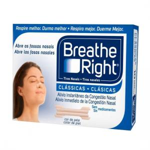 "Tiras Nasales Breathe Right Clásicas Talla "" M "" Medianas 10 Unidades"