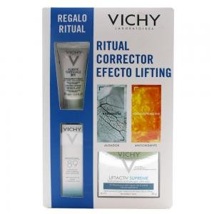 Vichy Pack Ritual Corrector Efecto Lifting (Limpiador 3 en 1 15ml + Mineral 89 15ml + Liftactiv Piel Normal Mixta 50ml)