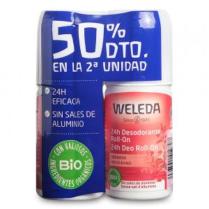 Duplo Weleda Desodorante Roll-on Granada 24 Horas 2x50ml