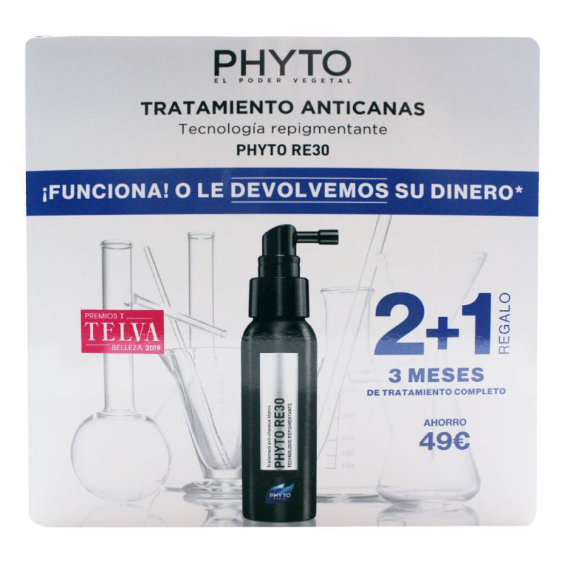 Phyto Pack 2+1 RE30 Tratamiento Anti-Canas 3 meses 3x50ml