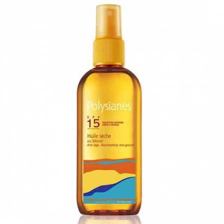 Polysianes Aceite seco al Monoï  SPF15  Spray 150ml